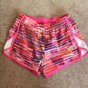 Xersion Pink Striped Running Shorts